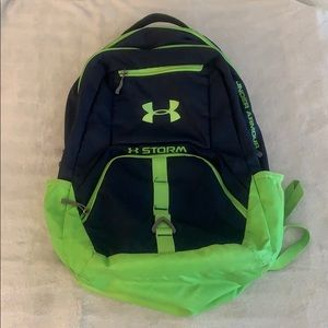 Under Armour Storm Blue & Green Backpack